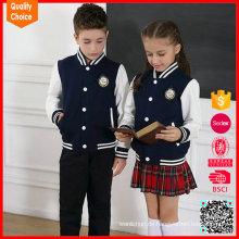 Schuluniform 100% Baumwolle maßgeschneiderte Strickjacke Pullover