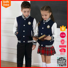Uniforme escolar 100% algodón personalizado tricotar rebeca suéter