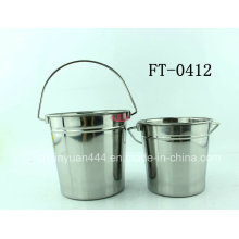 Stainless Stainless Steel Little Ice Bucket (FT-0412)