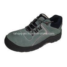 Light Blue Sudue MID-Cut Work Shoes (HQ05046)