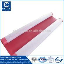 Membrane imperméable à l'humidité homogène pvc 1.2-2.0mm pour toiture