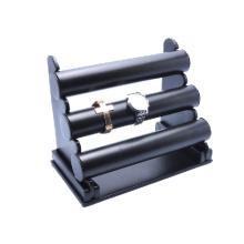 Dreifache schwarze Uhr-Anzeigen-Standplatz-Einzelverkauf und Uhr-Regal-Großverkauf