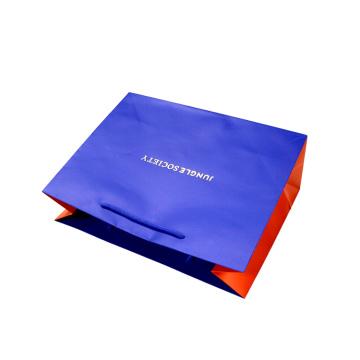 Saco de papel elegante do punho com logotipo feito sob encomenda