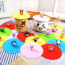Hot Selling Cartoon Figure Silicone Tea Cup Cover / Coffee Cup Lid