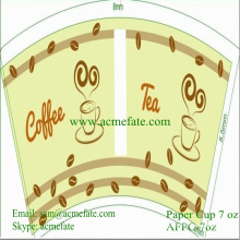 Taza de café de papel desechable