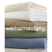 Вафельные ткань 100% хлопок отель одеяло