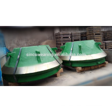 High Manganese Precision Casting Steel Cone Crusher Spare Parts -- Concave and Mantle