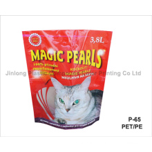 Cat Litter Package with Zipper