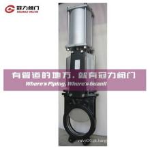Válvula de porta pneumática de aço inoxidável de Knfie do ferro Dutile