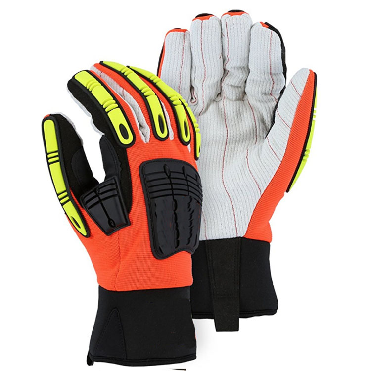 HIGH VISIBLE DRILLING GLOVES