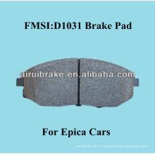 D1031 Plaque de frein semi-métallique de qualité OE