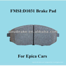 D1031 OE qualidade semi-metallic freio pad