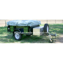 Customized Black Powder Coated Camper Trailer
