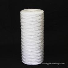 Cartucho de filtro de herida de cuerda con núcleo de acero inoxidable