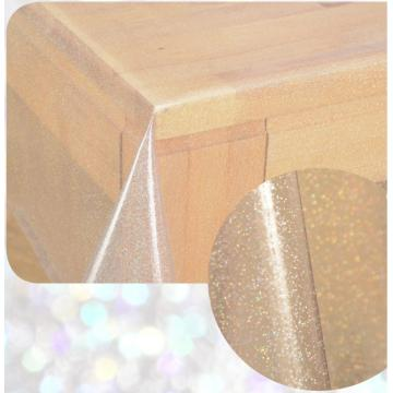 PVC Glitter Silver Table Cloth