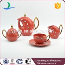 15pcs high gloss arabic tea set with acrylic stone
