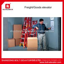 BOLT marca almacén elevador ascensor precio con potente capacidad de transporte