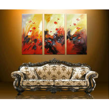 Artist Hand paint Flower images on texture arts,painting frame for home decor