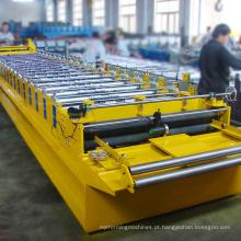 Rolo trapezoidal do painel da telha de telhado do equipamento de construção que forma a máquina