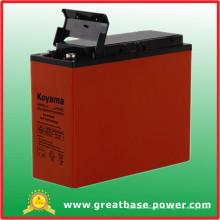 Batería de gel terminal frontal 55ah 12V para el sistema de alimentación de la fuente