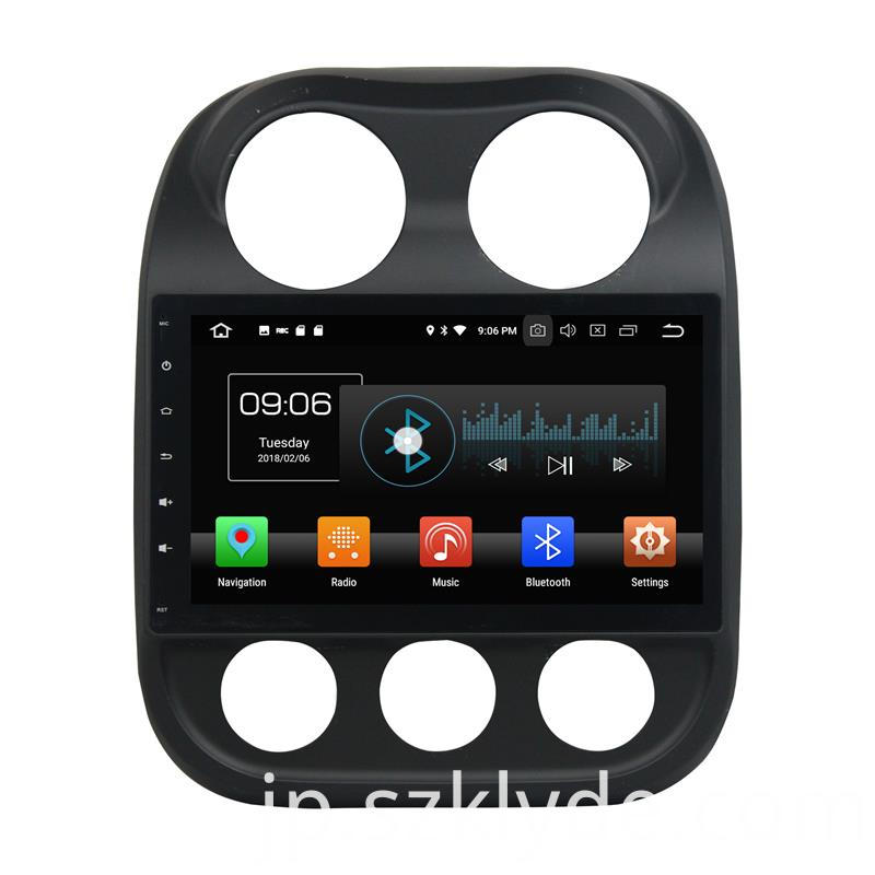 One Din Android 8.0 DVD Jeep Compass