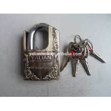 shackle half protected zinc alloy padlock
