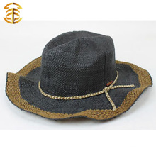 2015 New Fashion Casual Summer Sunscreen Medium Brim Cap Women Straw Hat