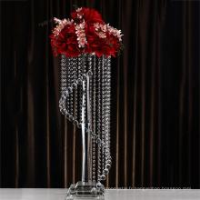Meilleure vente durable en utilisant des bougeoirs en cristal élégants de décoration de mariage