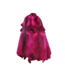 China factory wholesale cheap price dyed color raccoon fur skins raccoon fur hide