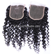 aliexpress 4X4 curly cheap human hair lace closure with baby hair