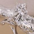 Manufaturer fourniture maison décoration résine matériau peacock figure fruit plaque en haute qualité