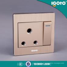 Interruptor e soquete de parede 15A de alumínio escovado de padrão britânico pela China fabricante