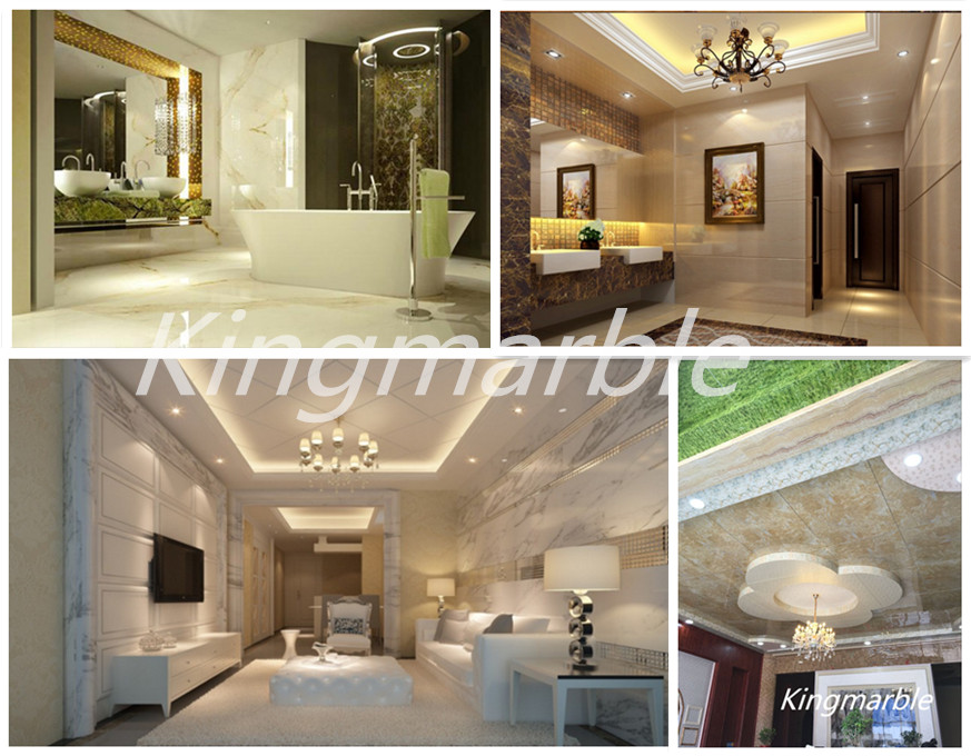 3d marble Pvc material Wall panels
