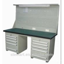 Banc de travail en métal de qualité hign avec tiroirs à outils