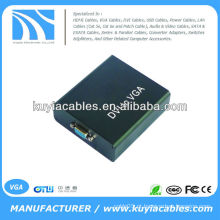 Digital DVI-I para Analog PC VGA Video Converter Box 1920x1080