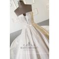 Vestido de bola sin tirantes bordado de lujo del vestido de boda hermoso de las imágenes hermosas al por mayor blanco