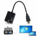 HDMI varón a la hembra del VGA con el adaptador audio 1080P del convertidor del cable video de HD para la PC