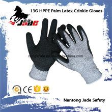 Gant de travail de sécurité résistant aux coupures en latex 13G 3/4 Latex Crinkle