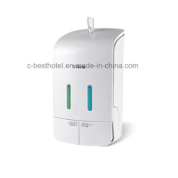 Dual-Tank Bathroom Wall Mount Manual Soap Dispenser