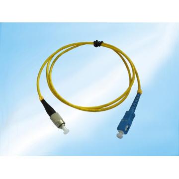 Cabo de remendo da fibra óptica do único modo de St-Sc Upc