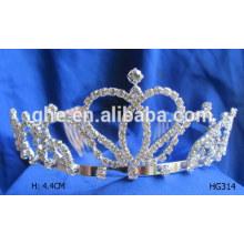 Tiaras de cumpleaños para adultos negro tiara rosa concurso de tiaras venta princesa fiesta de cumpleaños tiara