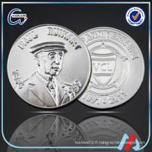 Monnaie originale décorative en nickel noir 3D