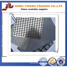 Folha de tela de metal perfurada de aço inoxidável de 2mm