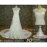 2017 New Arrival Hot Sale Cap Sleeve Bridal Gown Gorgeous Lace Mermaid Wedding Dresses