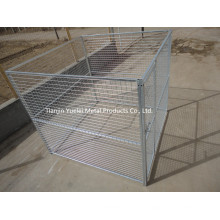 Dog Fence, Dog Run Box Kennel Chain-Link Dog Enclosure Pet Safe 10X10X6