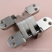 Charnière cachée de haute qualité d'alliage de zinc / charnière invisible croisée de porte