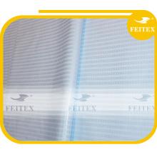 Nouveau blanc couleur 100% coton tissu bazin riche guinée brocade africaine dressing damassé