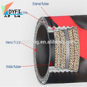 concrete pump spare parts flexible rubber hose for concrete putzmeister pump