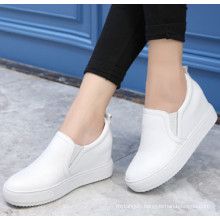 Leather Causal Shoes Pure White Leisure Shoes