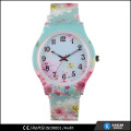 flower watches with plastic back, plastic watch case